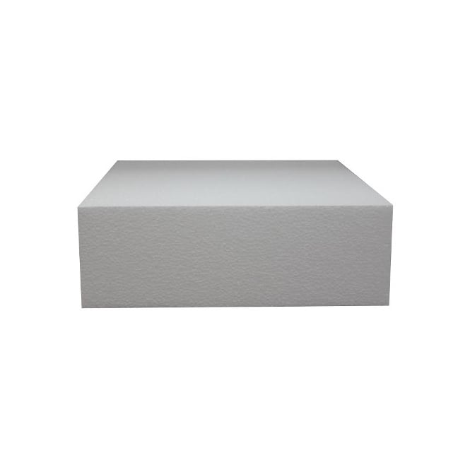 The Cake Decorating Co. 10 Inch Square 4 Inch Deep Professional Straight Edge Cake Dummy