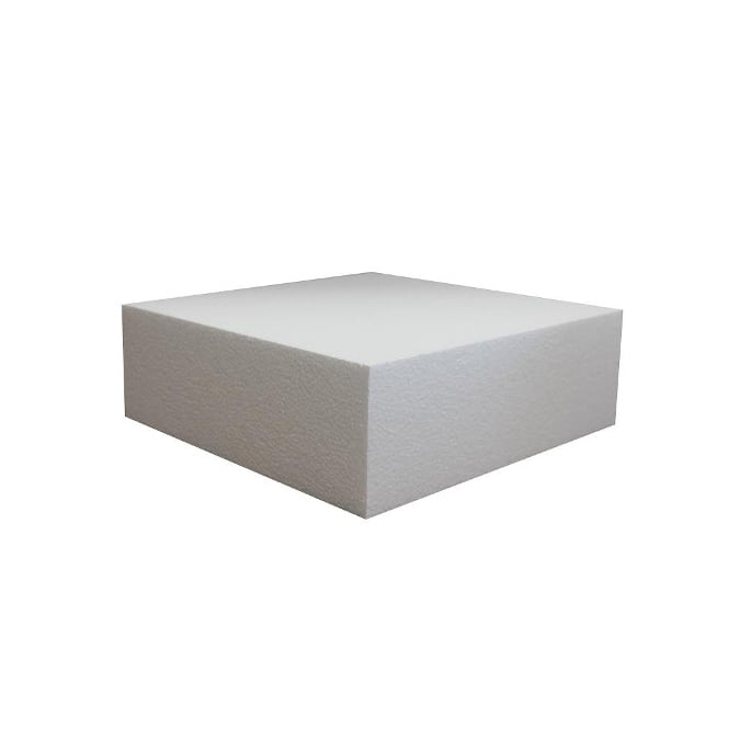 The Cake Decorating Co. 13 Inch Square 4 Inch Deep Professional Straight Edge Cake Dummy