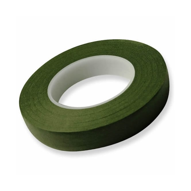 Hamilworth 6mm x 27m Dark Green Florist Tape x2