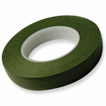 6mm x 27m Dark Green Hamilworth Florist Tape x2