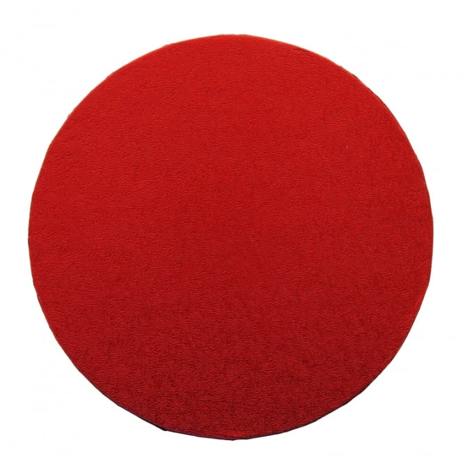 The Cake Decorating Co. 8 Inch Round Red Drum Cake Board