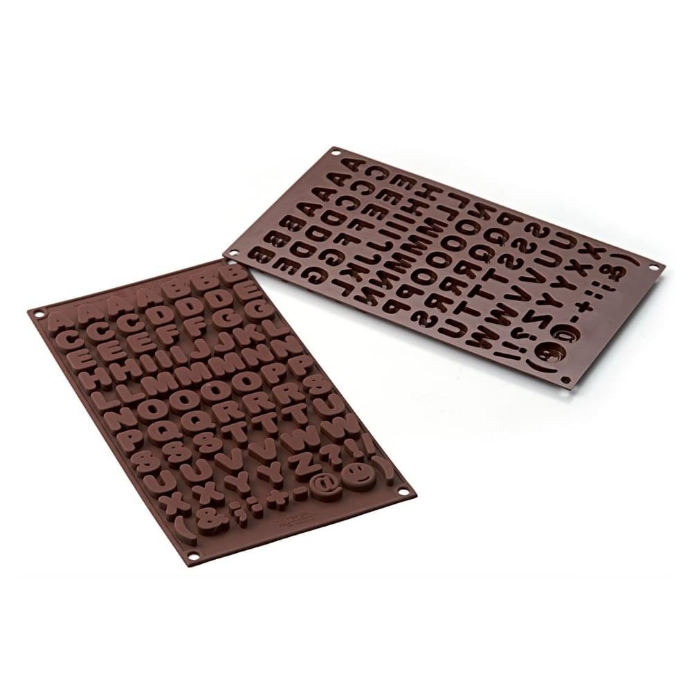 alphabet chocolate mould choco abc silicone mould by silikomart easy choc