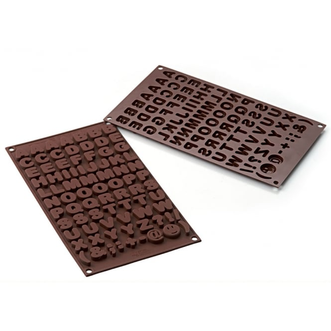 SilikoMart  Alphabet Chocolate Mould - Choco ABC Silicone Mould By SilikoMart Easy Choc