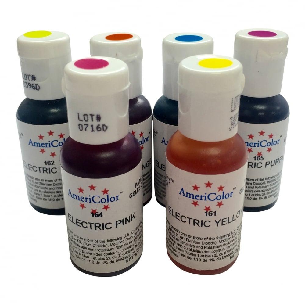 Americolor Electric Food Colour Kit - Soft Gel Paste Food Colour 0.75oz - Colours & Flavours ...