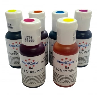 Electric Food Colour Kit - Soft Gel Paste Food Colour 0.75oz