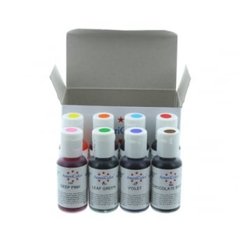 Junior Food Colour Kit Americolor .75 oz Gel - Craft Uses Only