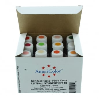 Soft Gel Paste Food Colouring Student Kit 2 By AmeriColor