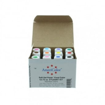 Student Food Colour Kit Americolor .75 oz Gel - Craft Uses Only