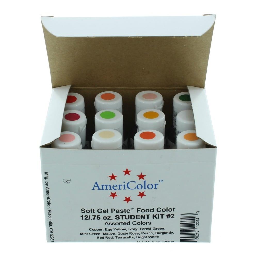 Americolor Student Kit 2 – Soft Gel Paste Food Colour Kit 0.75oz ...