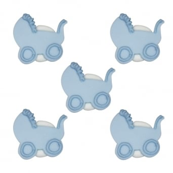 Baby Boy Pram Sugar Toppers x 5