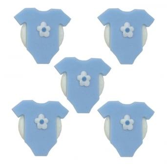 Blue Babygrow Sugar Toppers x 5