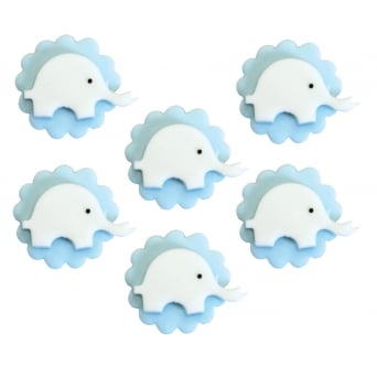 Blue Elephant Sugar Toppers x 6