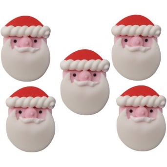 Father Christmas Sugar Toppers x 5