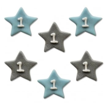 One Star Boy Sugar Toppers x 6