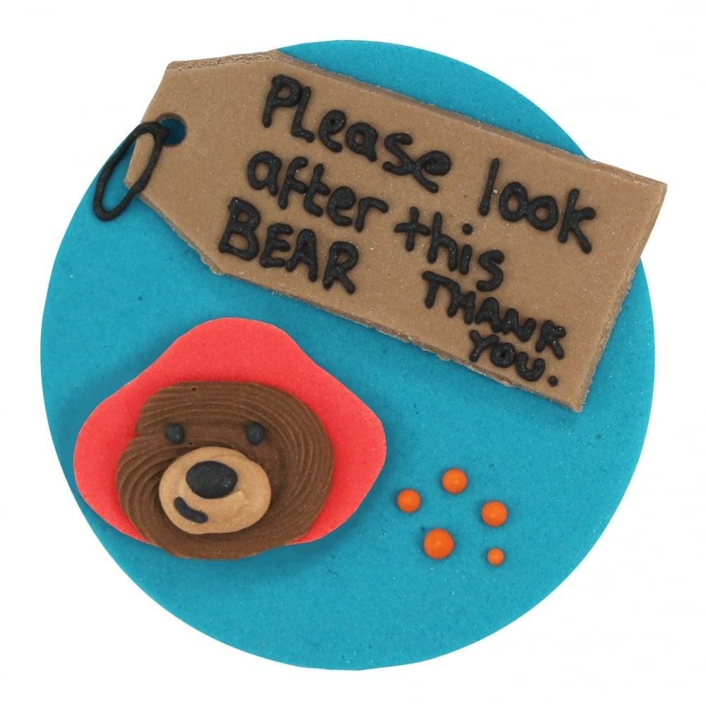 Home Cake Decorating Supply Co: Paddington Bear Sugar Plaque