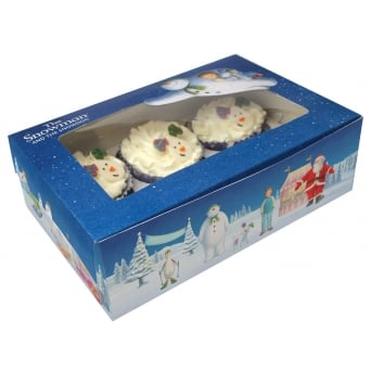 The Snowman And The Snowdog Cupcake Box Holds 6 Pack Of 2
