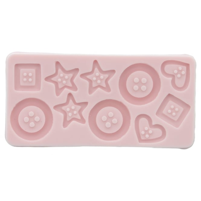 Sunflower Sugar Art Assorted Buttons Mould By