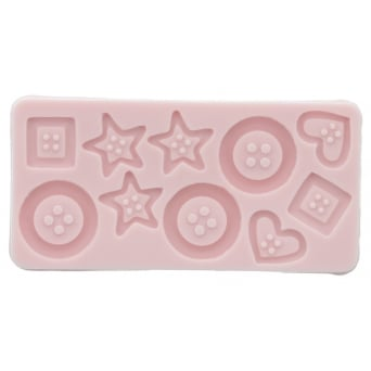 Assorted Buttons Mould By Sunflower Sugar Art