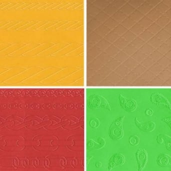 Assorted Set Of 4 Embossing Mats By CK Products