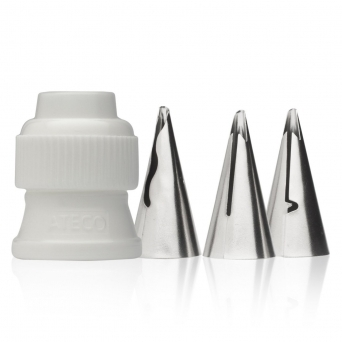 4 Piece Ruffle Tube Tip Set