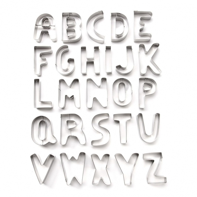 Ateco Alphabet 26 Pieces Extra Large Cutter Set