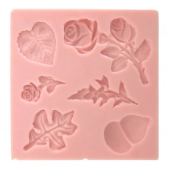 Autumn And Roses Mould By Sunflower Sugar Art