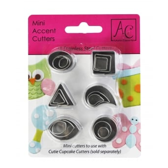 Mini Accent Cutters Pack Of 18
