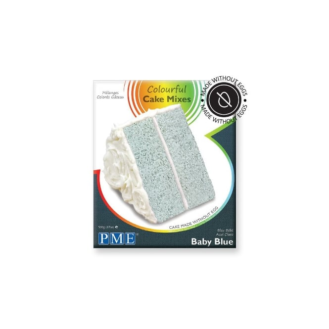 PME  Baby Blue Colourful Egg Free Cake Mix 500g - PME