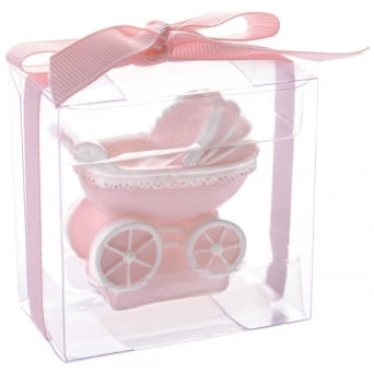 Baby Girl Christening Candle Set x 3