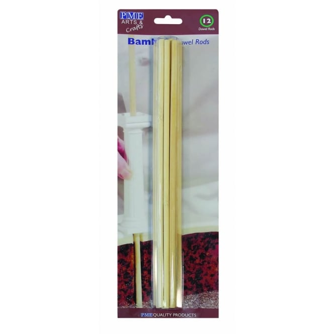 Bamboo Wooden Dowels - Pack of 12