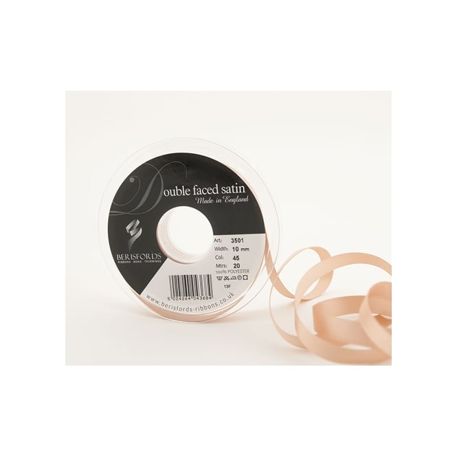 Berisfords Ecru Satin Ribbon 10mm x 20 Metres