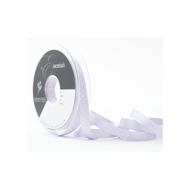 Berisfords Orchid Purple Dotty Satin Ribbon 10mm x 20 Metres