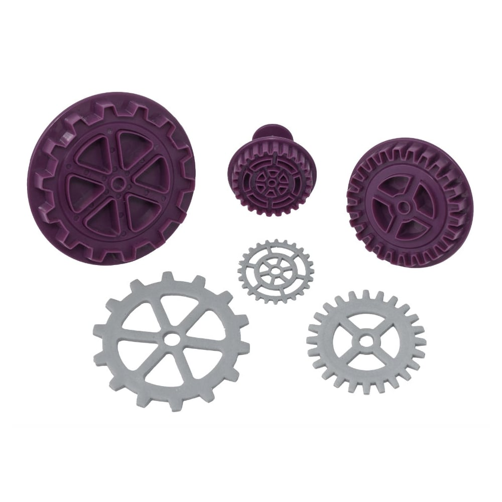 Wedding cake toppers decorations steampunk gear plunger cutter set of 3 junglespirit Image collections
