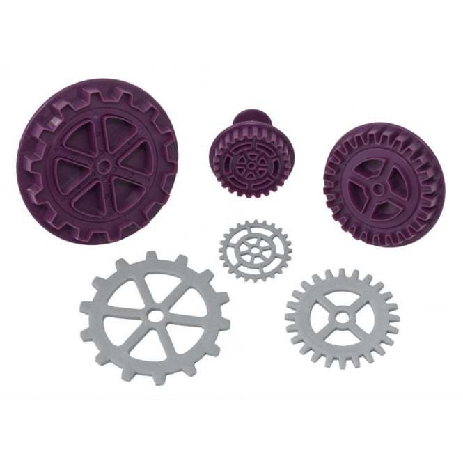 Black Cherry Cake Company Steampunk Gear Plunger Cutter Set Of 3