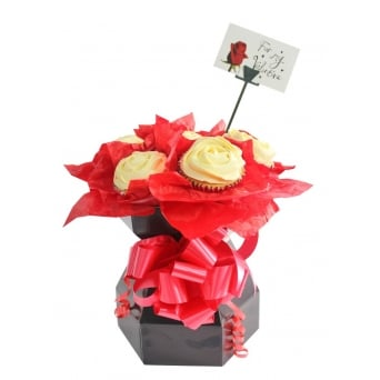 Black Cupcake Bouquet Box Kit