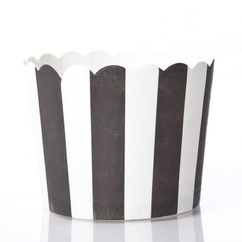 Black Stripe Cupcakes Cases By Paper Eskimo x 25 Cups
