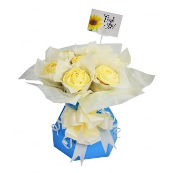 Blue Cupcake Bouquet Box Kit