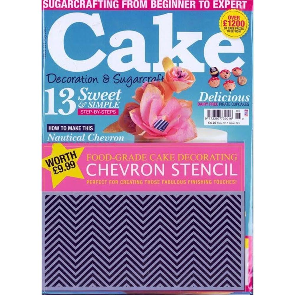 cake decoration and sugarcraft magazine issue 223 may 2017 - Decorating Magazines