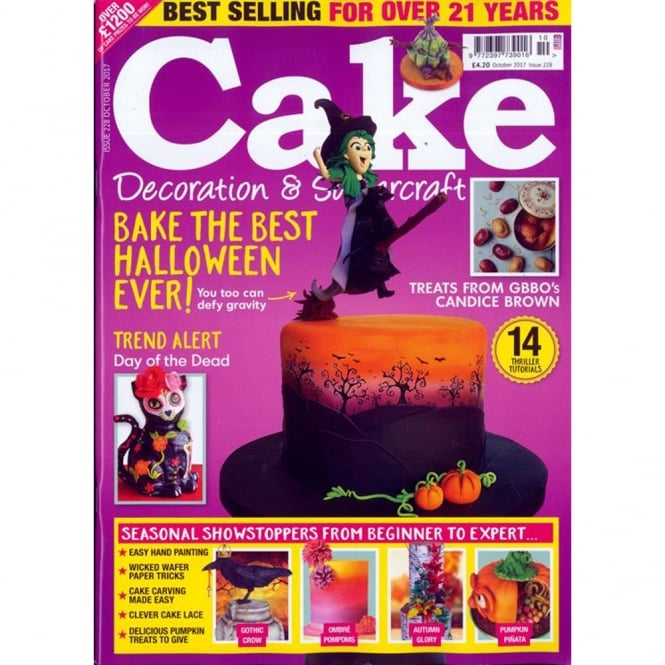 Cake Decoration & Sugarcraft Cake Decoration And Sugarcraft Magazine Issue 228 - October 2017