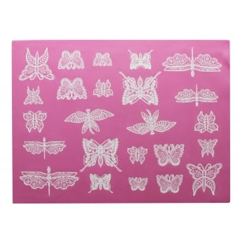 Beautiful Butterflies - 3D Large Lace Strip