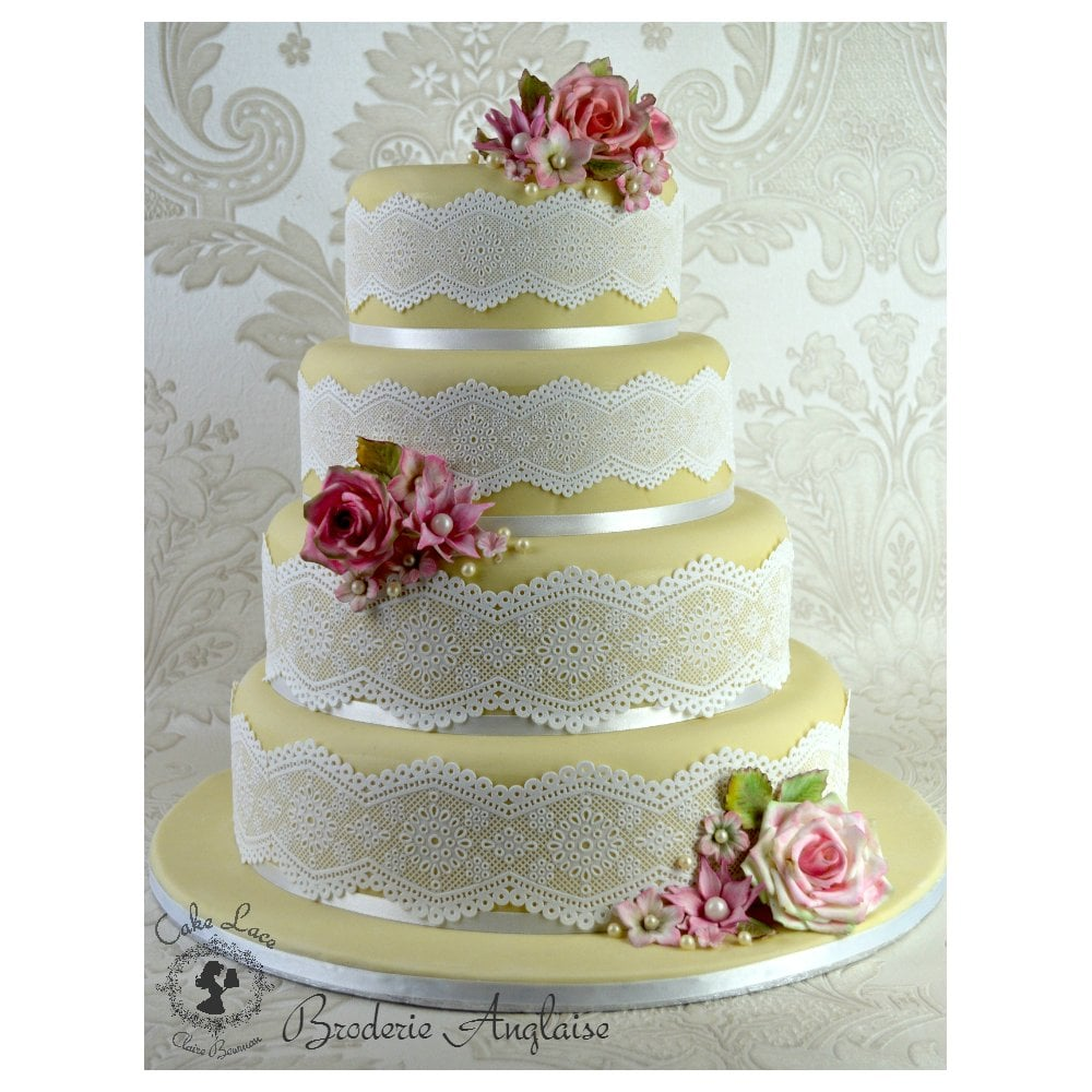 Cake Lace Broderie Anglaise 3d Lace Strip Mat Cake Decorating