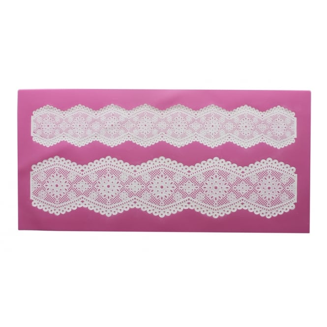Cake Lace Broderie Anglaise - 3D Lace Strip Mat
