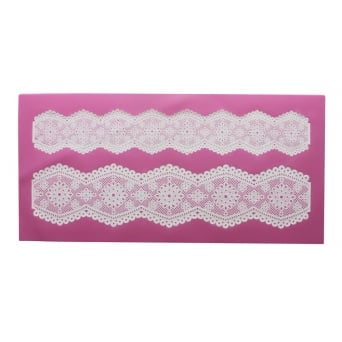 Broderie Anglaise - 3D  Lace Strip Mat