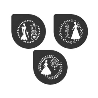Classical Ladies Collection Stencil Set Of 3