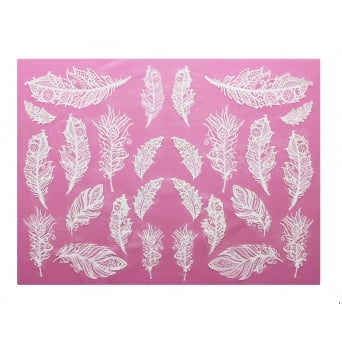 Feathers - 3D Large Lace Mat