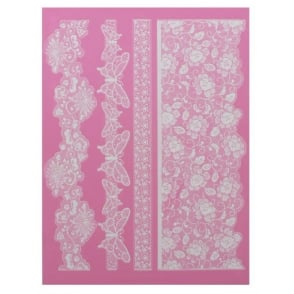Madame Butterfly - Large Lace Mat