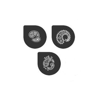 Perfect Paisley Pattern Stencils Set Of 3