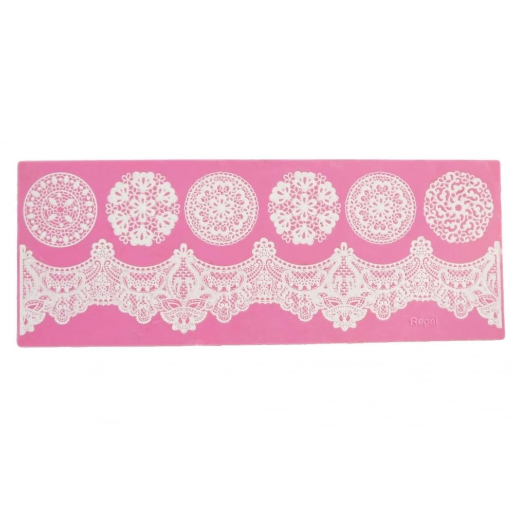 Cake Decorating Company : Cake Lace Regal - Strip Lace Mat - Cake Decorating ...