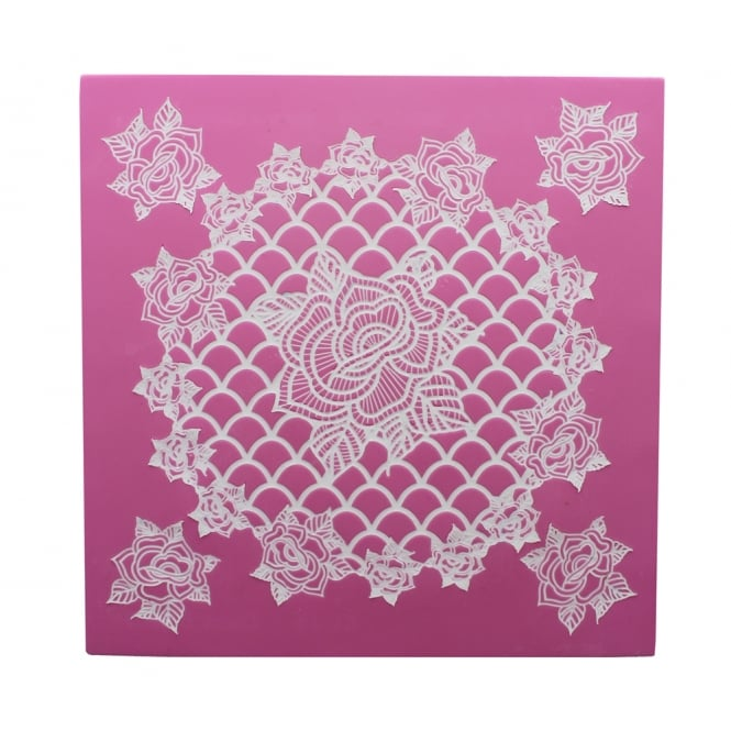 Cake Lace Ring Of Roses - 3D Cake Topper Mat