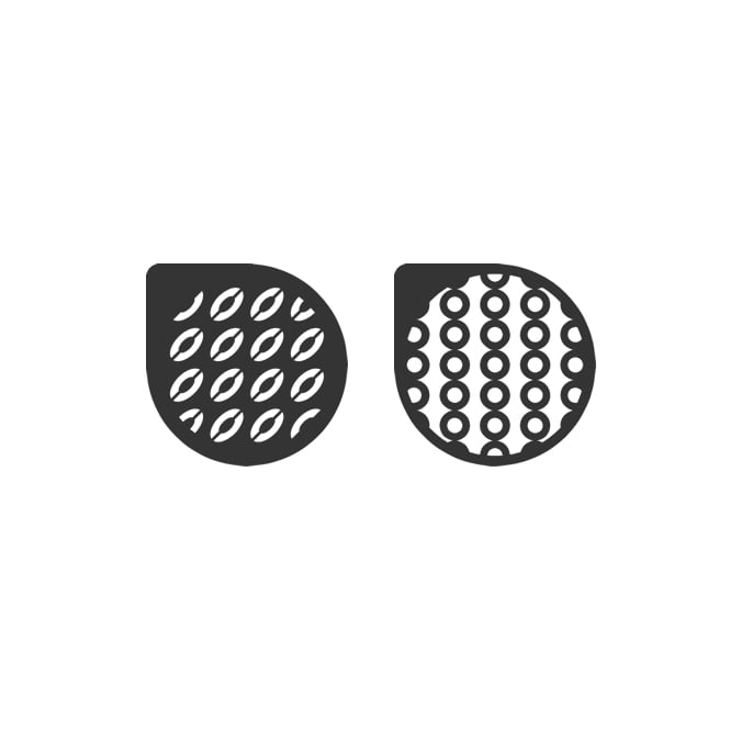 Cake Lace Selina Ovals And Circles Stencil Set Of 2